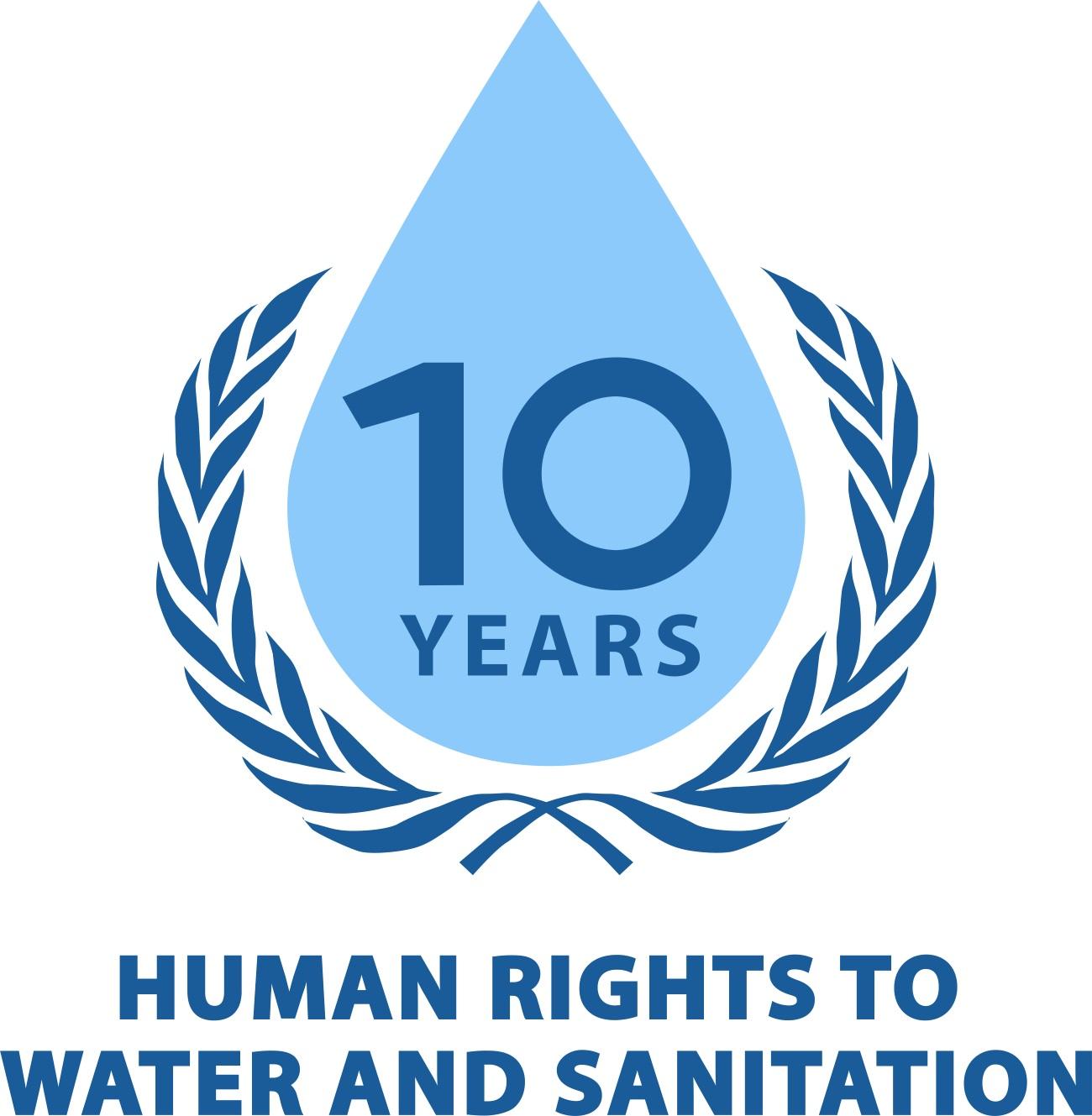 Logo 10 Jahre Menschenrecht auf Wasser und Sanitärversorgung