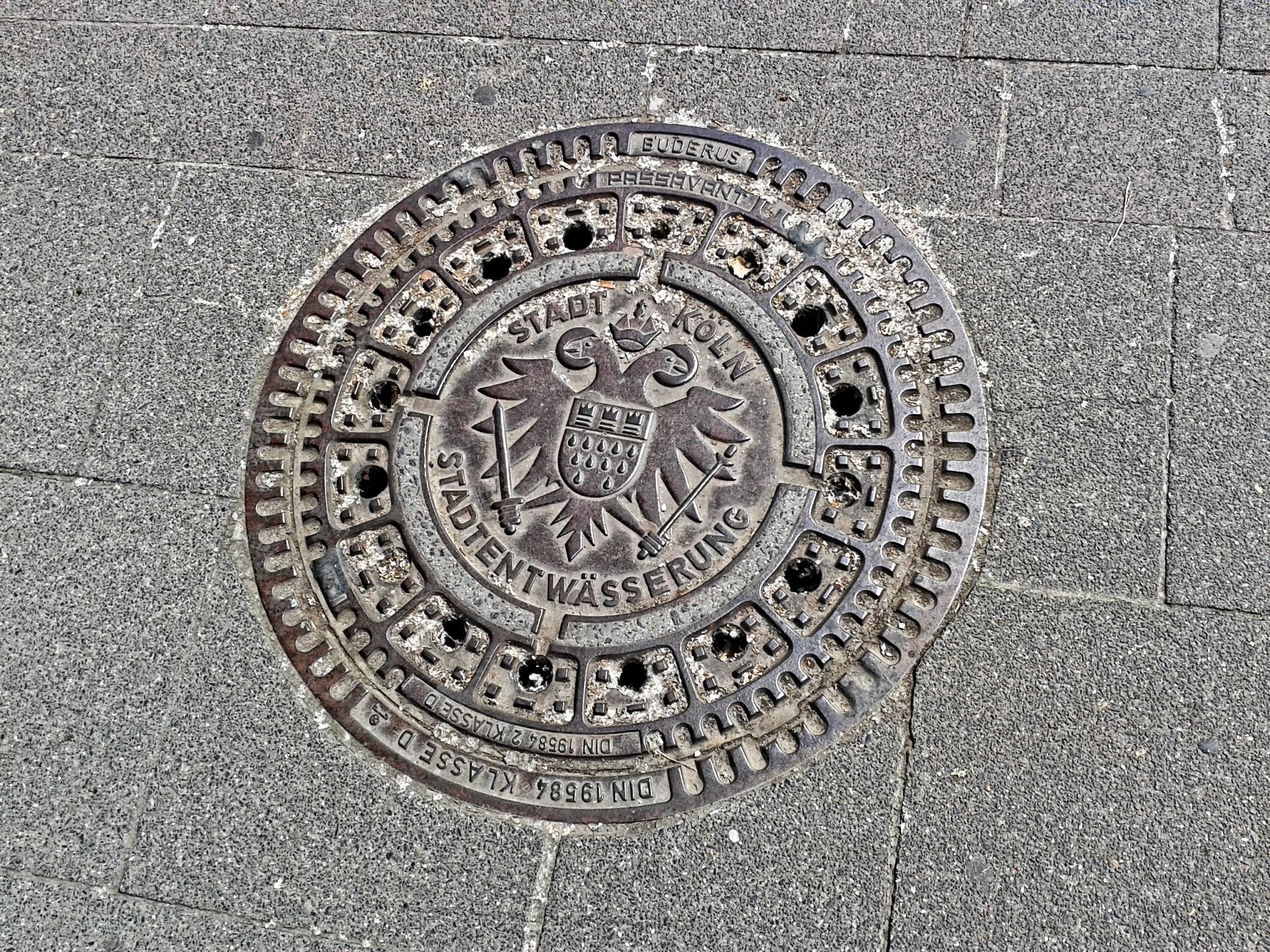 Gullydeckel der Stadt Köln