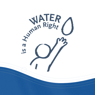 Logo mit Schrift WATER is a Human Right